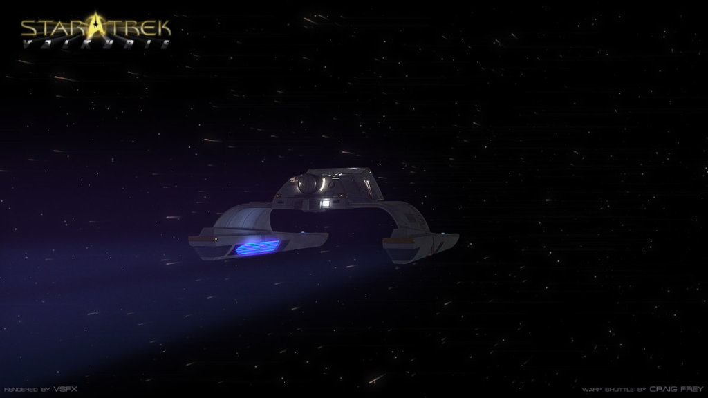 Warp Shuttle At Warp